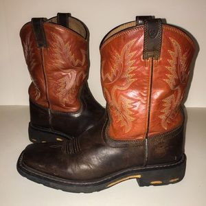 Leather Ariat Boots, Boys Size 5